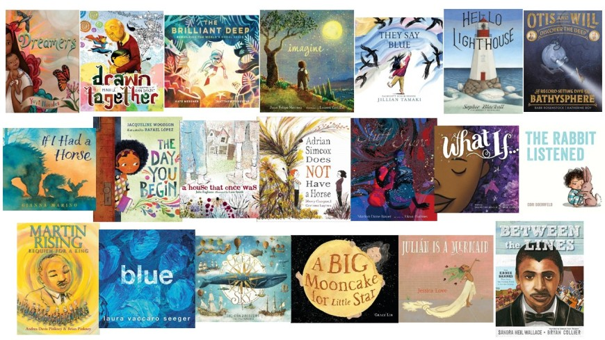 image of multiple book covers of decatur's mock caldecott
